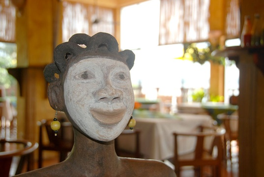 Discover humorous art in the restaurant