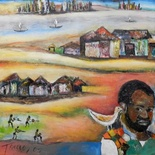 Artist´s impression of Samora Machel´s visits to Catembe - Museum