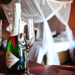 Welcome Champagne at Catembe Gallery Hotel