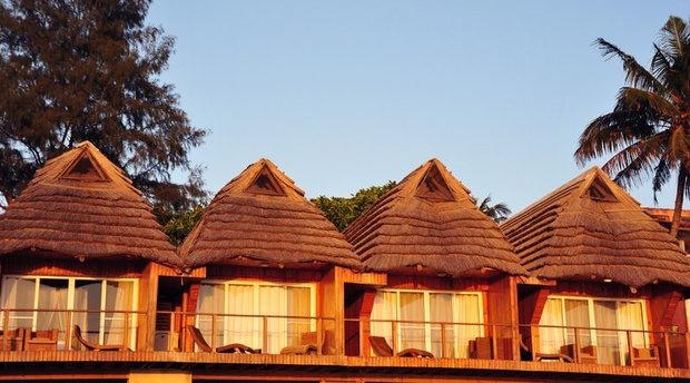 Gorgeous chalets on the beach at Catembe Gallery Hotel