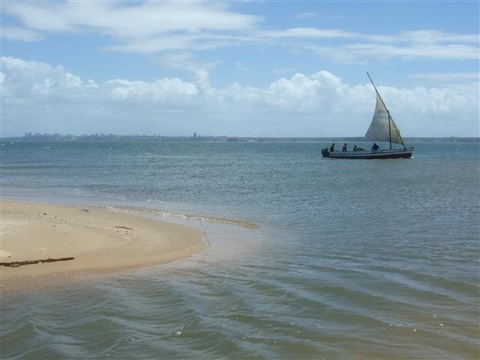 Local dhow near Xefina island